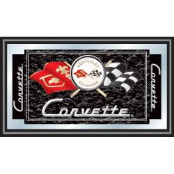 Corvette C1 Framed Mirror - Black