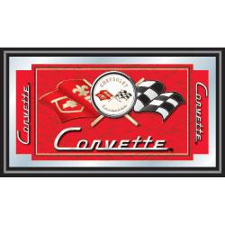 Corvette C1 Framed Mirror - Red