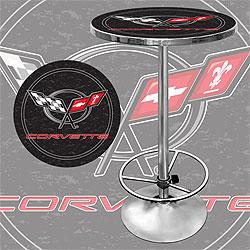 Corvette C5 Pub Table - Black