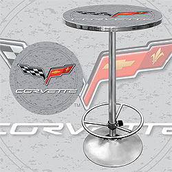 Corvette C6 Pub Table - Silver