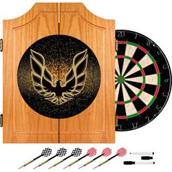 Pontiac Firebird Black Wood Dart Cabinet Set