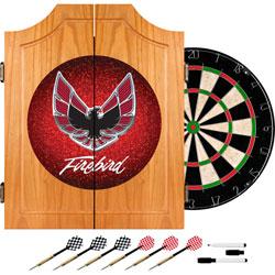 Pontiac Firebird Red Wood Dart Cabinet Set