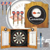 Corvette C1 Dart Cabinet Includes Darts and Board - Black