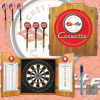 Corvette C1 Dart Cabinet Includes Darts and Board - Red