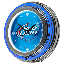 Bud Light 14 Inch Neon Wall Clock