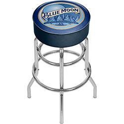 Blue Moon Padded Bar Stool