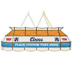 Personalized Coors Banquet Stained Glass 40 in. Pool Light