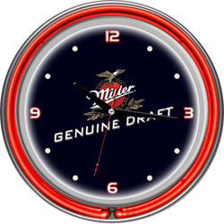 Miller Genuine Draft 14 Inch Neon Wall Clock
