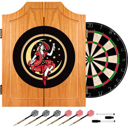 Miller Girl in the Moon Dart Cabinet Includes Darts/Board
