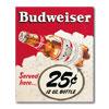 Budweiser Vintage Ad - 25 cents - Canvas 18 x 22 Inch