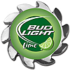 Bud Light Lime Spinner Card Cover - Silver