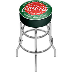 Red and Green Coca Cola Pub Stool