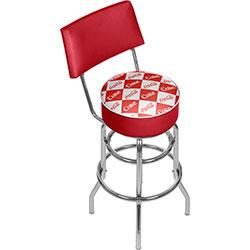Red Checker Coca Cola Pub Stool with Back