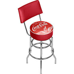 Wings Coca Cola Pub Stool with Back