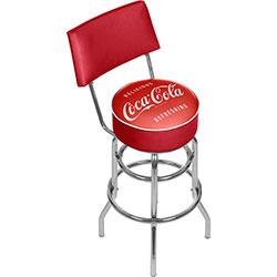 Coca Cola Vintage Pub Stool with Back
