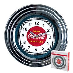 Coca-Cola Clock w/Chrome Finish - 1930s Style - 11.75 inches