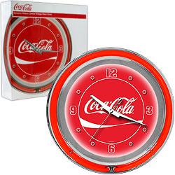 Coca-Cola Neon Clock - Dynamic Ribbon - Two Neon Rings