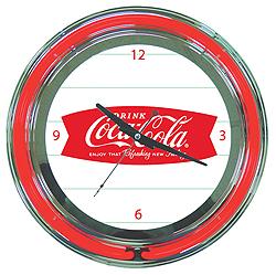 Coca Cola Refreshing Feeling Neon Clock - 14 Inch Diameter
