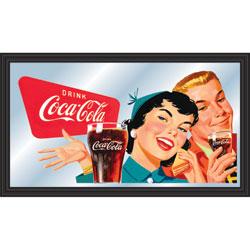 Coca-Cola Vintage Mirror Horizontal Couple Enjoying Coke