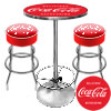 Ultimate Coca-Cola Gameroom Combo - 2 Bar Stools and Table