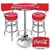 Ultimate Coca-Cola Gameroom Combo - 2 Stools w/Back & Table