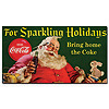Coke Santa w/ Rabbit For Sparkeling Holidays -13 x 24 Inches