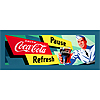 Coke Waiter 12x36 Inch Stretched Canvas Print