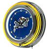 United States Naval Academy Neon Clock - 14 inch Diameter