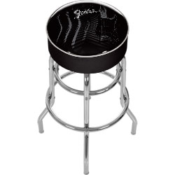 Fender Stratocasters Galore Padded Bar Stool