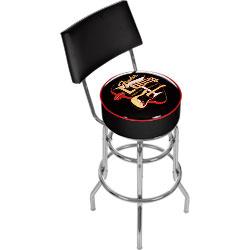 FenderR Logo Electro Lounge Padded Bar Stool