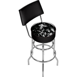 Fender Lady Liberty Padded Bar Stool with Back