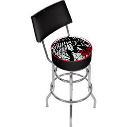 Fender Ripped Grunge Padded Bar Stool with Back