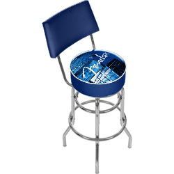 Fender Stacked Padded Bar Stool with Back