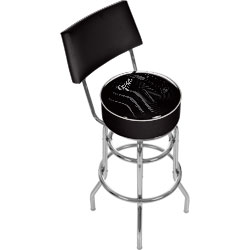 Fender Stratocasters Galore Padded Bar Stool With Back