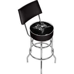 Fender Wings to the Strat Padded Bar Stool With Back