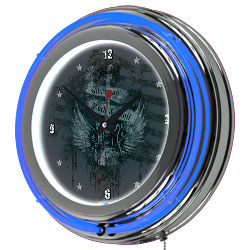 FenderR American Neon Clock - 14 inch Diameter