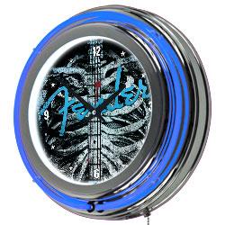 Fender Ribcage Double Ring Neon Clock