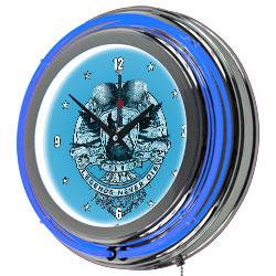 Fender Legends Never Die Double Ring Neon Clock