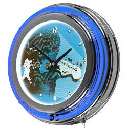 Fender Retro Jam Session Double Ring Neon Clock