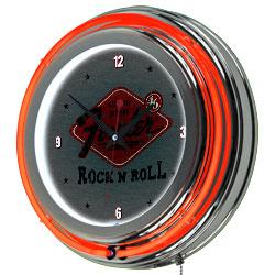 FenderR Rock N Roll Neon Clock - 14 inch