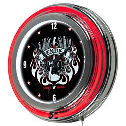 FenderR Spirit of Rock & Roll Neon Clock - 14 inch Diameter