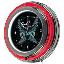 Fender Fine Wings to the Strat Ring Neon Clock