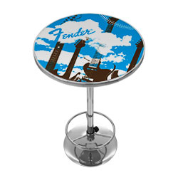 Fender Guitar in the Clouds Pub Table