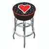 Four Aces Heart Logo Padded Bar Stool