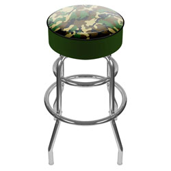 Hunting Camo Padded Swivel Bar Stool