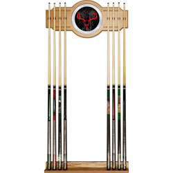 Hunt Skull Billiard Cue Rack with Mirror