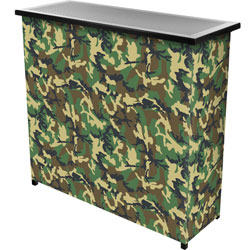 Hunt Camo 2 Shelf Portable Bar w/ Case