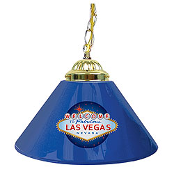 Welcome to Las Vegas 14 Inch Single Shade Bar Lamp