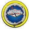 Las Vegas Neon Clock - 14 inch Diameter