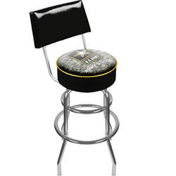 U.S. Army Digital Camo Padded Swivel Bar Stool with Back